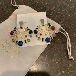 Kendra Scott Fabia Earrings in mixed gems - new